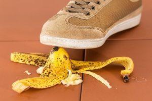 stepping on banana peel