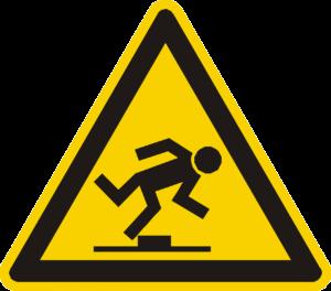tripping hazard warning sign