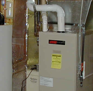 gas furnace in basement