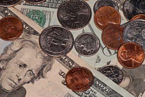 Money, bills and coins