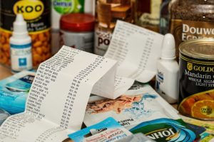 groceries with receipt