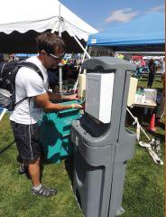 handwashing at the fair