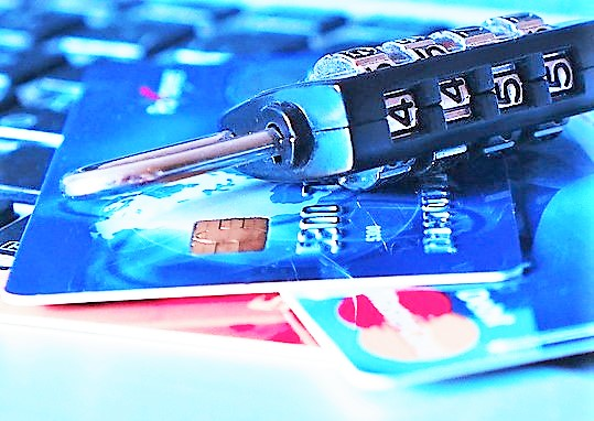 lock with credit cards to protect