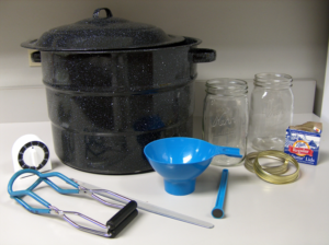 waterbath canner and equipment