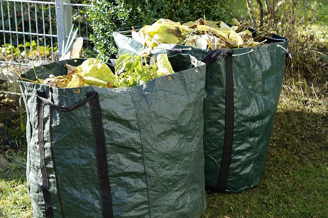 bags collecting garden waster