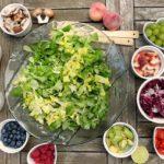 Colorful salad ingredients