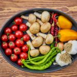 Fresh vegetables on a platter