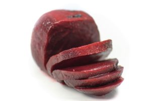 cooked peeled and sliced beet