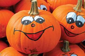 painted pumpkin jack-o-lantern