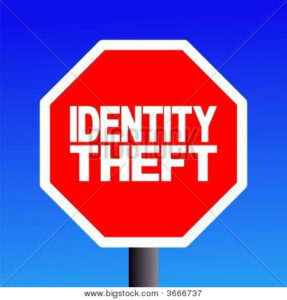 Identity Theft Stop Sign