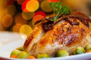 cooked turkey on platter