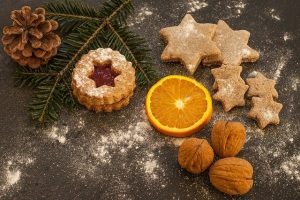 holiday cookie, orange and walnuts