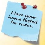 Sticky note stating have you tested for radon