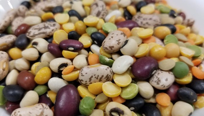 Bowl of mixed dry beans and legumes