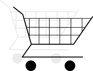 Drawing of a shopping cart