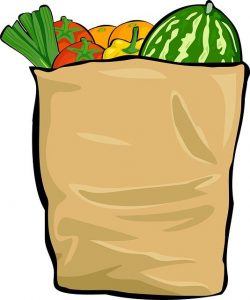 Grocery bag of produce