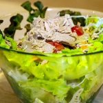 Salad with canned tuna