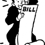 Worried, paying bills