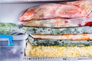 Freezing surplus food in home freezer