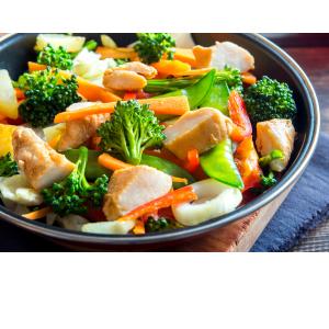 stir fry with frozen chicken and veggies