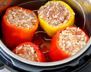 Stuffed Peppers in Electric Pressure Cooker