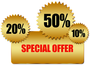Special Offer, 10%, 20%, 50%