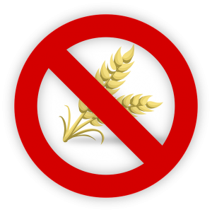 Symbol crossing out wheat to represent gluten-free