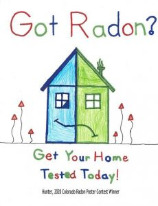 Drawing about getting your home tested by radon