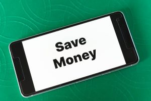 Save Money post on cell phone
