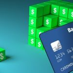 building blocks of dollars and a credit card