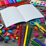 variety of school supplies